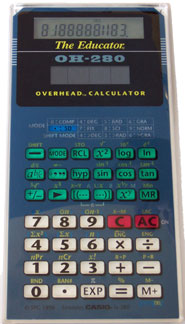 [Casio OH-260 Solar Overhead Calculator]