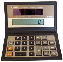 [Casio SL-100 Folding LCD Calculator]