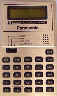 [Panasonic Clock Calculator JE 380u]