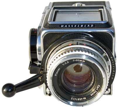 [Hasselblad 500C front view showing lens]
