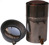 [Viopticon Kerosene Canister and parabolic mirror]