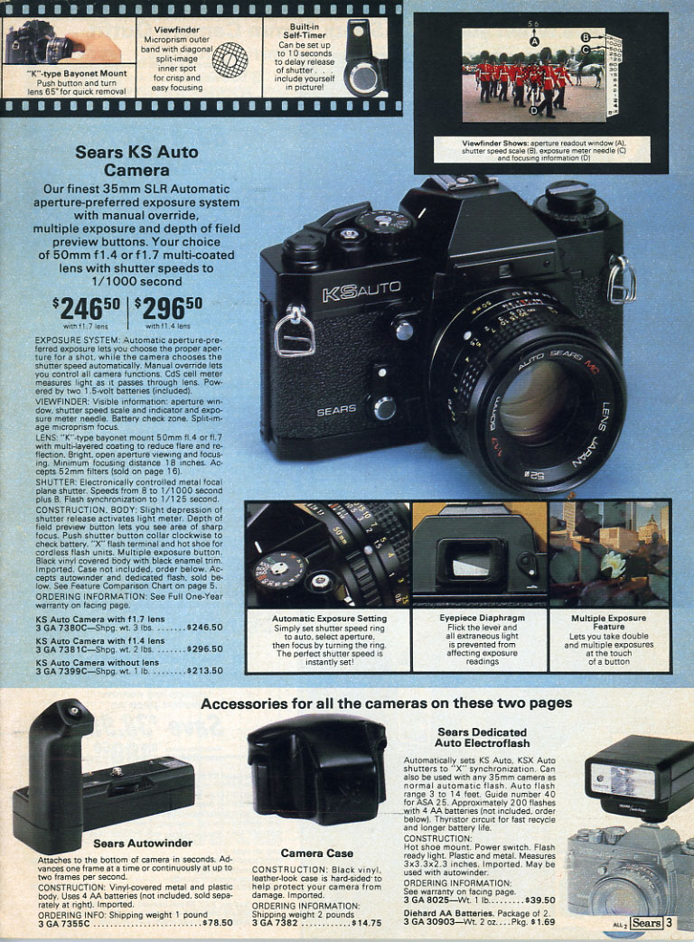Camera Museum 35mm Single Lens Reflex Cameras