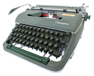 [Olympia SM-3 with Russian keyboard]
