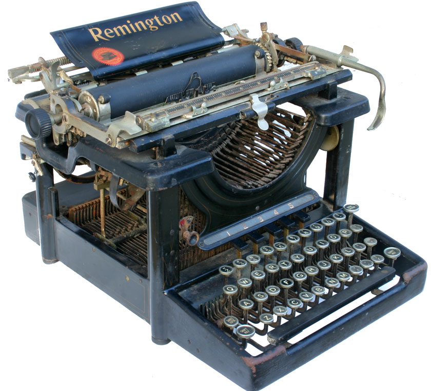 From the Virtual Typewriter Collection of Brad Sarno: 1946 Remington Rand  Deluxe Model 5